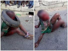 Bé trai bị đám đông đánh đập và thiêu sống đến chết vì nghi ăn cắp thực phẩm
