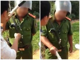 Không tin lời đe dọa, nam thanh niên ăn trọn cú tát từ cảnh sát trật tự