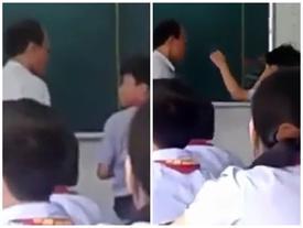 Thầy giám thị tát học sinh trong lớp