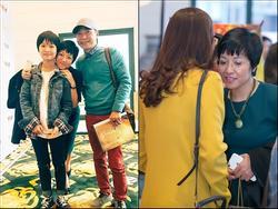 Thảo Vân cùng con gái và người yêu mới đến chúc mừng phim của Công Lý