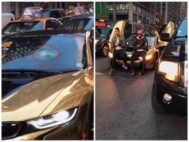"""Đỗ BMW i8 giữa phố để chụp ảnh """"sống ảo"""", 2 thiếu gia nhận bài học đắt giá"""