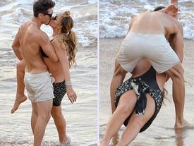 Mariah Carey chơi đùa đến tụt cả ngực ngoài bãi biển bên tình trẻ