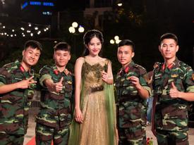 Top 8 Miss Earth 2016 Nam Em khoe giọng trong Chúng tôi là chiến sĩ