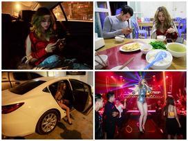 Thay đồ trên ô tô và cuộc sống sau 12h đêm của hot girl nóng bỏng Linh Miu