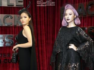 Angela Phương Trinh nổi nhất thảm đỏ với tóc hồng, son môi đen kịt