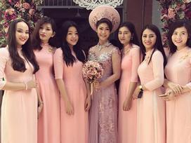 Thời trang sao Việt đẹp: Áo dài ăn hỏi của nữ cơ trưởng Việt Nam đầu tiên hot nhất tuần