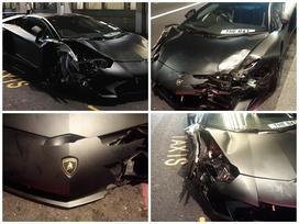 Lamborghini Aventador SV mui trần hư hỏng nặng sau cuộc đua tốc độ trên phố