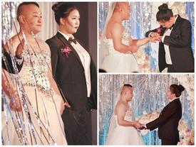 Không giảm cân kịp thời, cô dâu ép chú rể mặc váy cưới trong hôn lễ