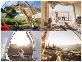 Thiên nhiên kỳ thú qua khung lều trại
