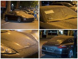 Porsche Panamera 4S bị bỏ quên giữa phố Hà thành