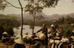 Cầu treo và phiên chợ sớm của người dân Lạng Sơn. Ảnh: Michael Blanchard.