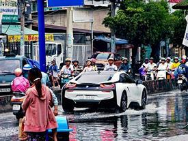 BMW i8 7 tỷ 'lội nước' ở Việt Nam gây tò mò trên Instagram