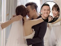 Trấn Thành thiết kế riêng váy cưới như công chúa dành tặng Hari Won