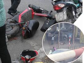 Tai nạn trên cầu Chương Dương, một người bị văng từ trên cầu xuống đất bất tỉnh