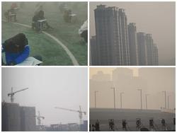 Trung Quốc: Ô nhiễm không khí tới nỗi học sinh ngồi thi ngoài sân trường khỏi cần giám thị