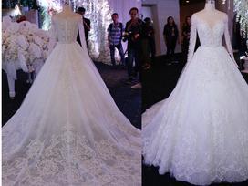 Video: Cận cảnh chiếc váy tiêu tốn 30 mét vải giúp Hari Won hóa công chúa đẹp nhất đêm nay