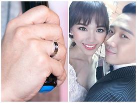 Cận cảnh chiếc nhẫn cưới của Trấn Thành và Hari Won