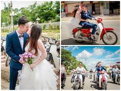Bộ ảnh cưới độc đáo với dàn xe Dream của 9X Sơn La