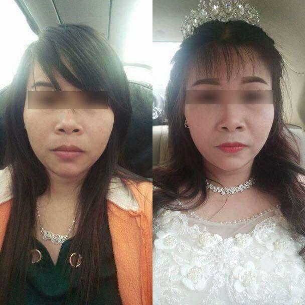 """Tội cho cô gái đó: Cô dâu 9X bị make up """"già như trái cà"""" trong lễ cưới khiến chị em lắc đầu chua xót - Ảnh 1."""