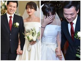 Vợ 9X của MC Trần Ngọc bật khóc trong lễ cưới