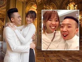 """""""Chết cười"""" với clip chúc Tết độc đáo của vợ chồng Trấn Thành - Hari Won"""