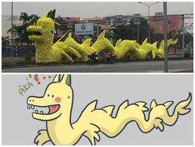 Con rồng vàng có hình thù kỳ lạ ở thành phố Hải Phòng khiến nhiều người khó hiểu