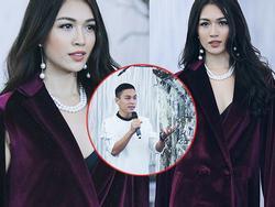 Dù bận với Miss Universe, Lệ Hằng vẫn bay ra Hà Nội 6 tiếng để diễn cho Adrian Anh Tuấn
