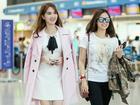 Ngọc Trinh ra sân bay lên đường sang Thượng Hải gặp tỷ phú Hoàng Kiều