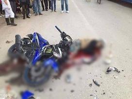 Chàng trai và cô gái tử nạn trên đường về Hà Nội sau khi uống rượu cùng đoàn phượt 160 người