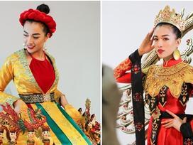 Ít người có thể tưởng tượng được quốc phục mà Lệ Hằng mang dự Miss Universe là như thế này