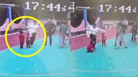 Clip sốc: Bé gái 6 tuổi bị mẹ kế đá liên tục vào người vì giận cá chém thớt - Ảnh 2.