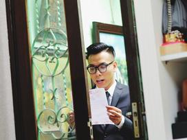 Chủ rể đứng trước cửa đọc lời hứa mới đón được hot girl Hà Thành về làm vợ