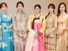 Huỳnh Tiên diện Hanbok nổi bật, tự tin giao lưu cùng Miss Korea