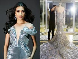 Hé lộ trang phục dạ hội cắt xẻ sexy của Lệ Hằng tại Miss Universe 2016