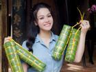 Vừa hồi phục sức khỏe, Nhật Kim Anh đã rạng rỡ ngồi gói bánh chưng đón Tết