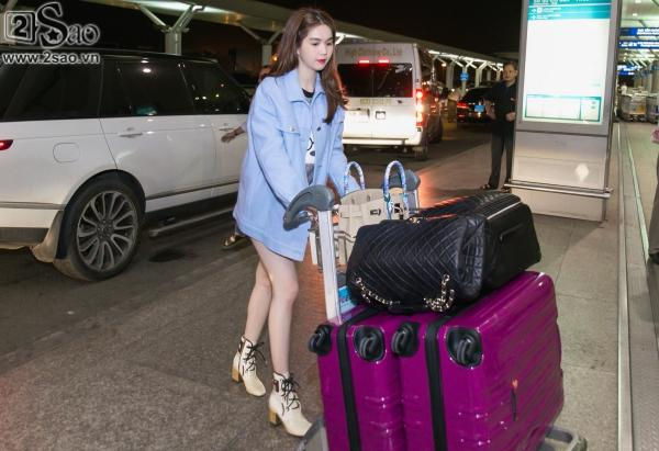 Mặc kệ ồn ào, Ngọc Trinh bỏ lại tất cả, ra sân bay lên đường đón Tết cùng Hoàng Kiều