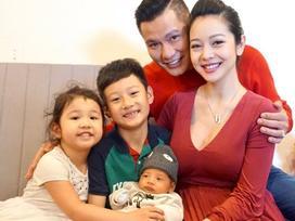 Jennifer Phạm và quý tử mới sinh lần đầu lộ diện trong ngày đầy tháng