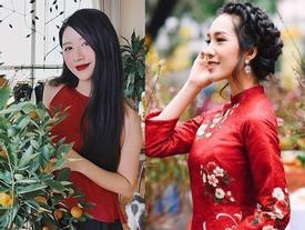 Hotteen Việt khoe loạt ảnh áo dài, rộn ràng đón Tết