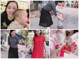 Thiên thần nhỏ của Ly Kute vui Tết đầu tiên bên mẹ và bà ngoại