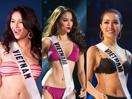 Hành trình trượt dài của người đẹp Việt tại đấu trường Hoa hậu Hoàn vũ