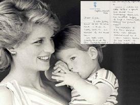 Bức thư tay chưa từng được công bố hé lộ tâm tư của cố công nương Diana