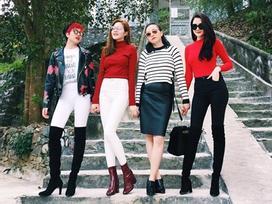 4 chị em chân siêu dài nhà bạn gái Sơn Tùng khiến mày râu chao đảo