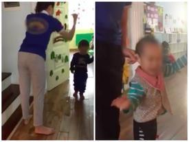 Hà Nội: Clip nhiều bé bị cô giáo mầm non dùng dép đánh vào đầu, nhéo tai chửi mắng gây phẫn nộ