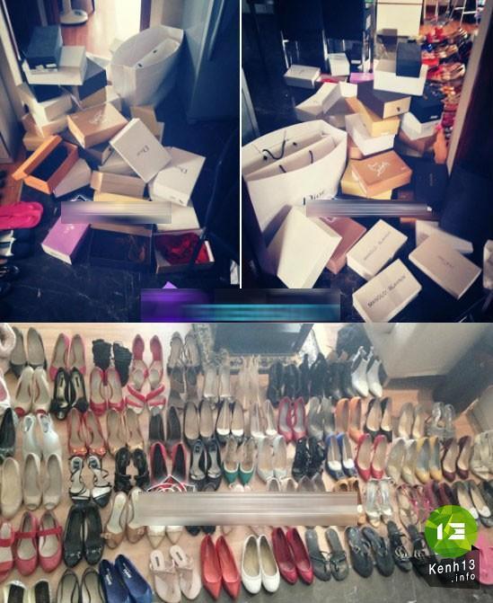 Giày: BST giầy của Mai Phương Thuý nhiều như một cửa hàng giầy với đầy đủ các thương hiệu nổi tiếng và đắt tiền.