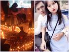 Sát ngày Valentine chàng trai đốt hàng trăm cây nến, quỳ gối cầu hôn bạn gái