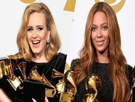 Beyonce ngậm ngùi khi Adele ẵm trọn loạt giải hot của Grammy 2017