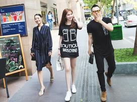Không hẹn mà gặp, Mỹ Linh - Ngọc Trinh - Huyền My cùng diện đồ đen trong street style tuần qua