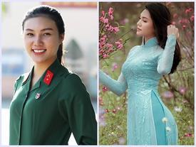 Chân dài nhập ngũ đang gây sốt từng thi Hoa hậu Việt Nam