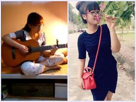 Ôm Guitar hát 'Anh muốn em sống sao', nữ sinh trường Công nghiệp khiến các chàng say mê