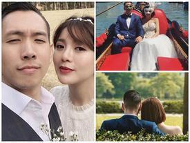 Loạt ảnh tình tứ của hot girl Tú Linh và chồng sắp cưới